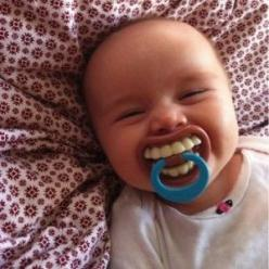 Funny TEETH kid child toddler Novelty costume BABY PACIFIER Billy Bob - so silly!: Babies, Pacifier, Funny Stuff, Humor, Kids, Things, Smile