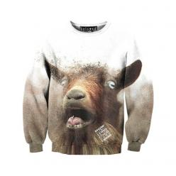 Goat Sweatshirt.... awesome... Bob needs this......: Goats, Fashion, Gift, Style, Clothes, Goat Sweater, Goat Sweatshirt, Products, Sweatshirts Sweaters