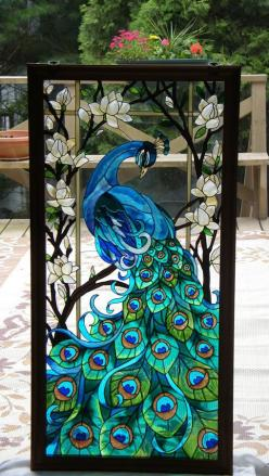 Hey, Lois! Can you teach us to do this at our next L.I.F.T. event??: Peacock Tattoo, Stainedglass, Peacocks, Glasses, Stain Glass