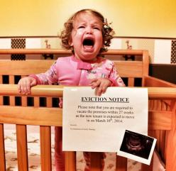 Hilarious! Best. Announcement. EVER!: Babies, Pregnancy Announcements, Baby Ideas, Baby Announcements, Funny, Eviction Notice, Photo