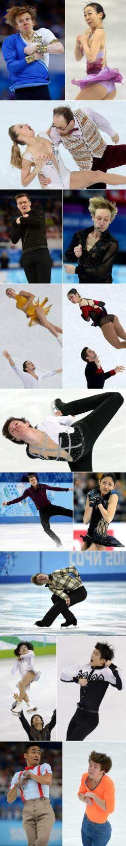 Hilarious faces of Olympic figure skaters-thanks @Kaylie MacDonald McAllister: Skating Faces, Hilarious Faces, Figure Skating, Funny Sports Pictures, Funny Stuff, Funny Faces, Can'T Stop Laughing