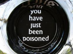 "How to make your own ""You have just been poisoned"" glass: Idea, Glass, Funny, Coffee Mugs"
