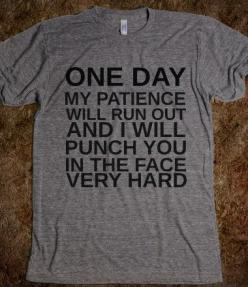 I'm pretty sure I mention punching someone in the face once a day. One day, it'll happen...: Funny Saying Shirts, Funny Tshirts Sayings, Punch People In The Face, Funny T-Shirts, Funny T Shirts, Funny Shirts, Shirts Funny, T Shirts Quotes, Punch T