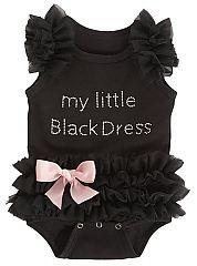 I can just imagine Niall having a little girl and putting this on her and starts singing 'little black dress just walked into the room....': Babies, Dress Onesie, Baby Clothes, Baby Things, Baby Girls, Little Black Dresses, Baby Onesie, Shower Gif