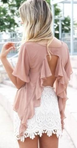i love this sooo much wish i could reach through the screen and take this shirt lol !!: Fashion, Style, Skirts, Dream Closet, Outfit, Open Backs, Lace Skirt, Shirt