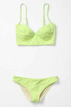 lime bikini: Neon Bikinis, Fashion, Bathing Suits, Throwback Bikini, Swimsuits, Fluorescent Throwback, Lime Bikini