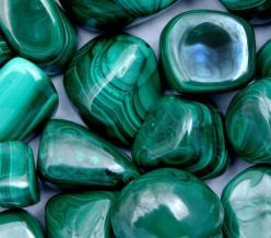 Malachite. Heart and Solar Plexus chakras. It is an excellent stone to strengthen the physical heart as well as the emotional aspect of the heart. One of the foremost stones for psychic protection. Having it within your aura promotes a strongly protective