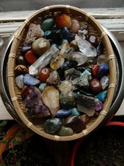 Moon to Moon: Collections : Crystals ......  Rocks!  Beautiful wonderful rocks and crystals!!!: Crystals, Gemstones, Earth, Baskets, Rocks, Collections, Minerals