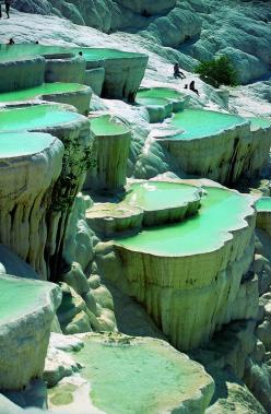 Natural Rock Pools, Turkey   - Explore the World, one Country at a Time. http://TravelNerdNici.com: Bucket List, Rock Pools, Travel, Places, Turkey, Rocks, Hot Spring