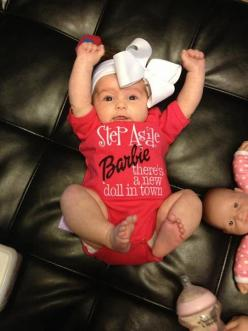 OMG! If I have a little girl she will HAVE to have this outfit! I always loved Barbie!!: Little Girls, Babygirl, Doll, Baby Baby, Baby Clothes, Baby Things, Baby Girls, Baby Stuff