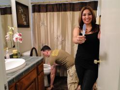 Pregnancy announcement!!! seen this where the woman is by the toilet but this one is priceless!! Would fit with us for sure!: Funny Pregnancy Announcements, Fit, Toilet, Baby Announcements, Baby Girls, Announcement For Baby, Humor Pregnancy, Baby Boy
