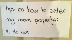 Pretty much: Girls, Bedroom Doors, Room Properly, Funny Stuff, Enter, My Sister, Girl Rooms