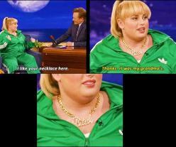Rebel Wilson, sooo funny!: Giggle, Rebel Wilson, Rebelwilson, So Funny, Grandma, Fat Amy, Necklace, Fatamy