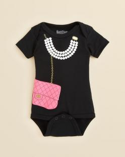 Sara Kety Infant Girls Necklace & Purse Onesie: Babygirl, Purse, Breakfast At Tiffany'S, Baby Girls, Baby Outfit, Kid, Infant Girls