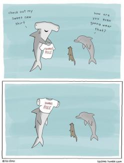 Sharks Rule: Funny Things, Funny Pics, Cartoon, Liz Climo, Comic, Sharks Rule, Funny Stuff, Humor
