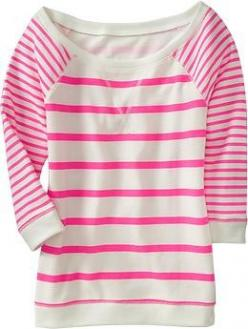 stripe fest: Women S, Fashion, Pink Stripes, Style, Dream Closet, Terry Pullover, Old Navy