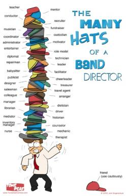 The Many Hats of a Band Director... Could apply to a choir director, too!: Hats, Music Teacher, Marching Band, School Stuff, Band Director, Band Jokes, Choir Director, Music Classroom, Music Education