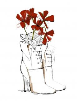 The World at My Feet  | Garance Doré #Boutique  #illustration: Inspiration, Garance Doré, Art Prints, Feet, Fashion Illustrations, Design, Fashion Sketch