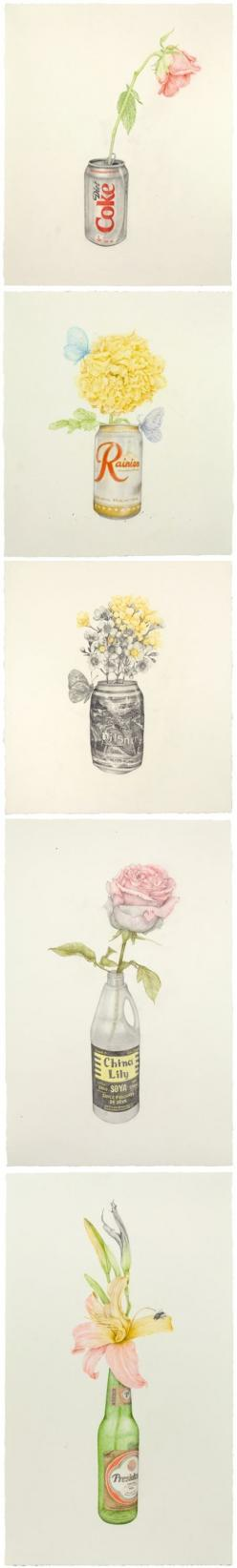 These amazing drawings are the work of New York based artist Aurel Schmidt. They are part of  a series titled, Reveries Of A Lost Life Mask in which she pairs images with the poetry of American poet Franz Wright. I love their simplicity… so beautiful, yet