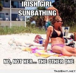 This is hilarious: Irish Girls, Funny Stuff, Funnies, Humor, Irishgirls, Things, Beach, Irish Girl Sunbathing