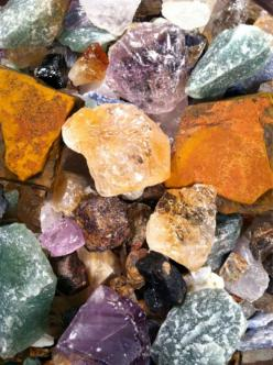 this shows texture because i show each rock with a different look and feel. like the lower purple rock has a smooth side and the orange rock is rough and not as smooth: Lower Purple, Favorite Things, Color, Texture, Gems Rocks, Minerals Rocks Stones, Crys