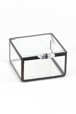 This would be even more adorable with a couple of crystal inside.: Crystals, Recycled Glass, Glass Boxes, Glasses, Gift Ideas, Products