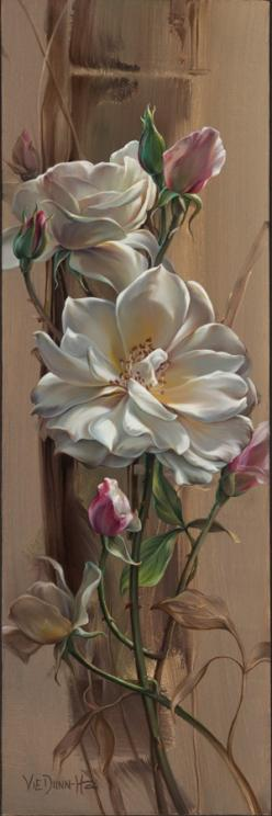 #Vie_Dunn_Harr found her artistic expression slowly, yet deliberately, and continues to explore the many possibilities in the arts.: Vie Dunn Harr, Floral Painting, Art Floral, Rose Painting, Beautiful Flowers, Art Flowers, Oil Painting, Beautiful Rose, F