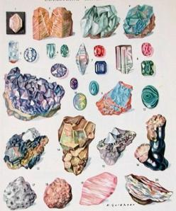 Vintage mineral identification: Inspiration, Gemstones Minerals, Crystals Gemstones Stones, Gems Rocks Minerals Etc, 1950 S Gemstones, Illustration, Colorful Gemstones, Gemstones Haoli, Gemstones Chart