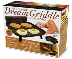 Wake & Bake Griddle: Know someone whose hobbies include cooking and/or sleeping? Then the Dream Griddle is the perfect gift! With industry-leading features like a convenient Snooze/Preheat function and a built-in carbon monoxide detector; it's eas