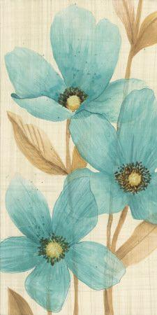Waterflowers II  | Flower Art-prints and Posters at affordable prices !: Waterflowers Ii, Waterflowers Manuela Maja, Waterflowers Art, Blue, Color, Flower Art Prints, Flower Prints, Poster, Beautiful Flowers