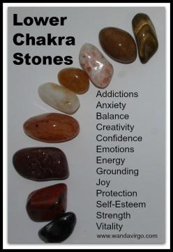 Working with crystals and stones for balancing your lower Chakras.  Visit us here at Crystal Vibrations ~ Creations by Sunscape for an alternative to your wellness journey.: Chakra Crystals Stones, Chakra Centers, Crystals Chakra, Chakra Fixing, Chakra Ku