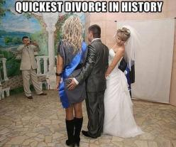 Worst Divorce FAILS Click for all pics   LOL, LMAO, Funny, Quote, relationship humor: History, Quickest Divorce, Funny Pictures, Funnypictures, Wedding, Funny Stuff, Humor