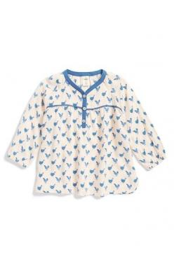 24m Free shipping and returns on Tucker + Tate Print Top (Baby Girls) at Nordstrom.com. Blouson sleeves and a relaxed cut enhance the breezy look and feel of a lightweight print top. Contrast trim at the placket and yoke perfectly complements the cheery s