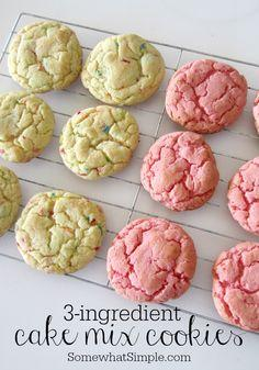 3 ingredient cake mix cookies - turn out perfect every time!