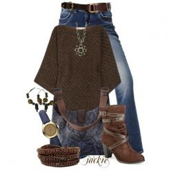 """""""Brown and Blue"""" by jackie22 on Polyvore: Fall Outfits 82, Blue Outfits, Style, Clothes, Fashionista Trends, Fall Winter Outfit, Brown, Fall Fashion"""
