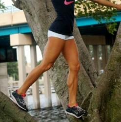 """""""She's Got Legs"""" Workout -   Do each exercise and rest 20 seconds. Repeat circuit 3 times.  -KB Squat with Reverse Lunge x 15 (per side)  -30 Mountain Climbers  -KB Front Lunge with Knee Up x 15 (per side)  -Alternating 1 Leg Scorpion Push Up"""