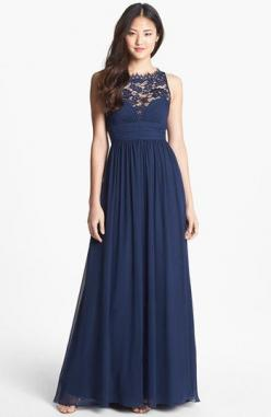 Aidan Mattox Embellished Lace & Silk Chiffon Gown (Online Only) available at #Nordstrom: Silk Chiffon, Bridesmaid Dresses, Aidan Mattox, Gowns, Chiffon Gown, Mattox Embellished, Lace Silk