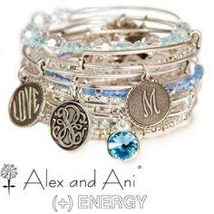 Alex and Ani - love the blue with the silver