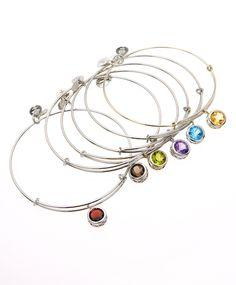 Alex and Ani Silver Birthstone Bangles... I might have to start a collection...a different color every day-so cute!