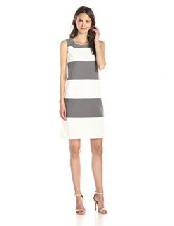 Anne Klein Women's Sleeveless Color Block Shift Dress, Grey/White, 2 Anne Klein http://smile.amazon.com/dp/B00SCYKO3Y/ref=cm_sw_r_pi_dp_-BDUvb15MJ7MP: Striped Shift, Color Block Striped, Summer Dresses, Shift Dresses, Fashion Inspiration, Women S Colo