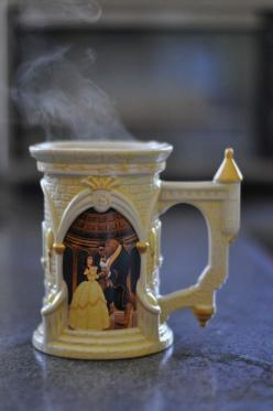 beauty and the beast mug; I love it! How could you not smile while drinking from this!: Beautyandthebeast, Disney Cups, Disney Coffee Mug, Beauty And The Beast, Coffee Mugs, Disney Things, Disney Mug, Disney Movie