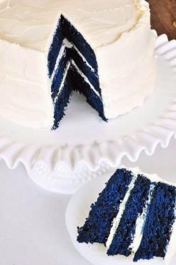 Blue Velvet Cake Recipe...more like UK cake!!: Cake Recipe, Food, Red Velvet, Bluevelvet, Blue Cake, Blue Velvet Cakes, Wedding Cake, Blue Wedding, Dessert