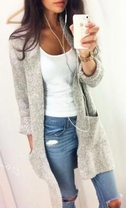 cozy: Long Cardigan, Simple Outfit, Casual Outfit, Winter Outfit, Fall Outfit, Causal Outfit, Lazy Day Outfit, Spring Fashion Outfit