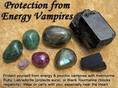 Crystal Guidance - Protection from Energy Vampires-: Energy Vampires, Healing Crystals, Crystals Stones, Labradorite Protects, Black Tourmaline, Healing Stones, Crystal Healing