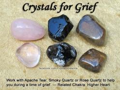 Crystals for Grief — Work with Apache Tear, Smoky Quartz, or Rose Quartz to help you during a time of grief. — Related Chakra for Grief: Higher Heart: Gemstone, Grief, Crystals Gems, Healing Crystals, Crystals Stones, Healing Stones, Stones Crystals, Crys