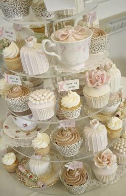 Cupcakes:: Cup Cakes, Tea Party, Sweet, Wedding Ideas, Wedding Cupcakes, Wedding Cakes, Afternoon Tea, Bridal Shower, Dessert