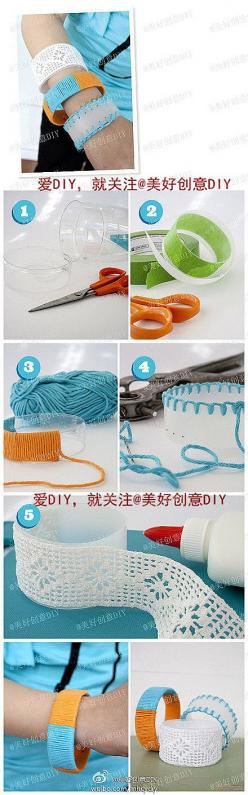 DIY Plastic Bottle Bracelet | FabDIY  http://www.fabdiy.com/diy-plastic-bottle-bracelet/: Plastic Bottles, Plastic, Diy'S, Bracelets, Diy Craft, Bottles, Craft Ideas, Crafts