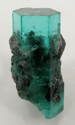 Emerald with Calcite | ©Fine Mineral Galleries | iRocks.com Muzo Mine, Boyaca Dept., Colombia.: Crystals, Emeralds, Gemstone, Irocks Com Muzo, Crystal, Gem Stones, Engagement Ring, Minerals