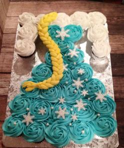 Frozen Elsa cupcake dress made by Teresa Lynn Cakes LLC: Frozen Elsa, Cake Ideas, Cup Cake, Frozen Party, Cupcake Cakes, Frozen Birthday, Birthday Cakes, Frozen Cake