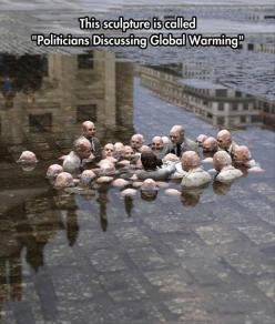 Funny Pictures Of The Day - 92 Pics: Sculpture, Street Art, Isaac Cordal, Called Politician, Global Warming